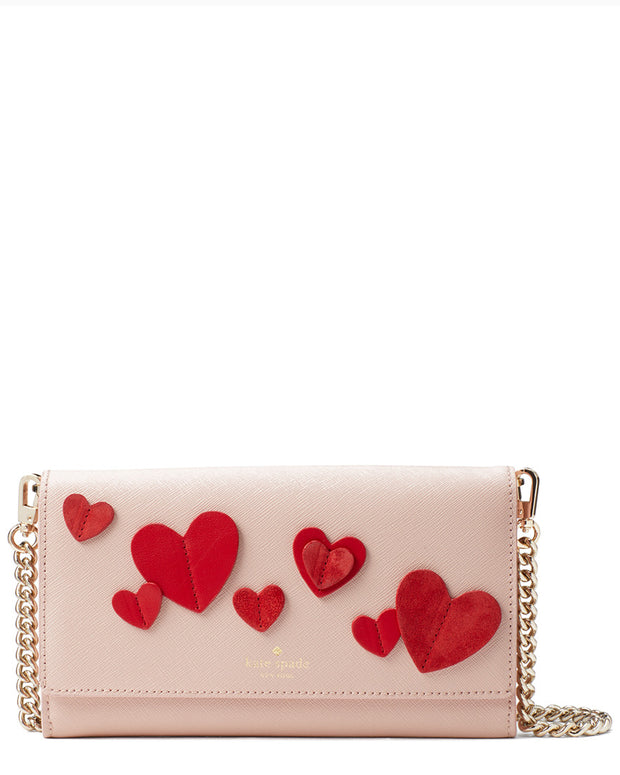Kate Spade New York Heart It Franny Leather Crossbody