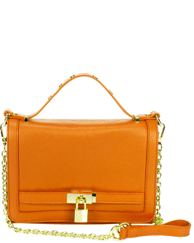 Giorgio Costa Turnlock Leather Crossbody