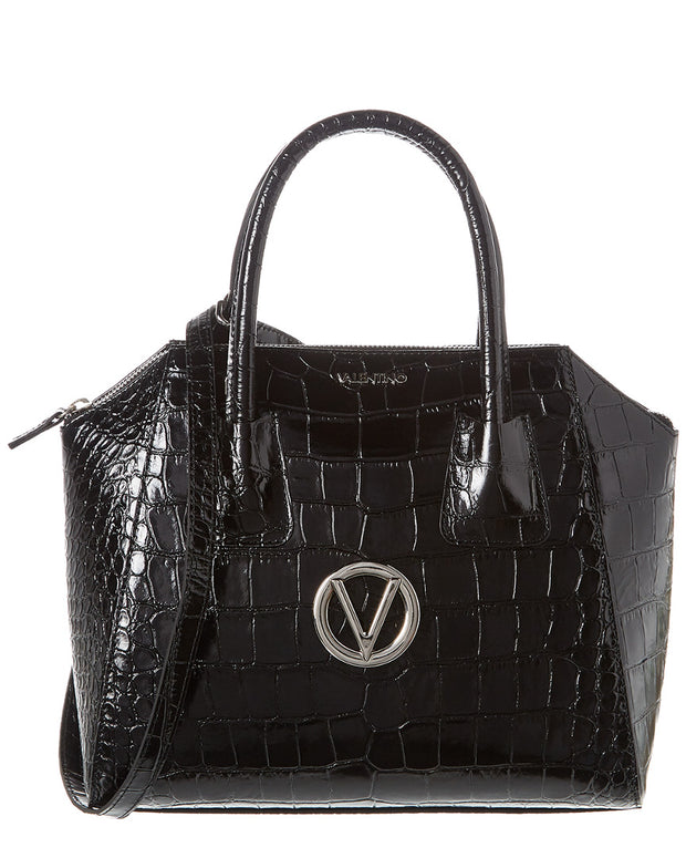 Valentino By Mario Valentino Minimi Croc-Embossed Leather Tote