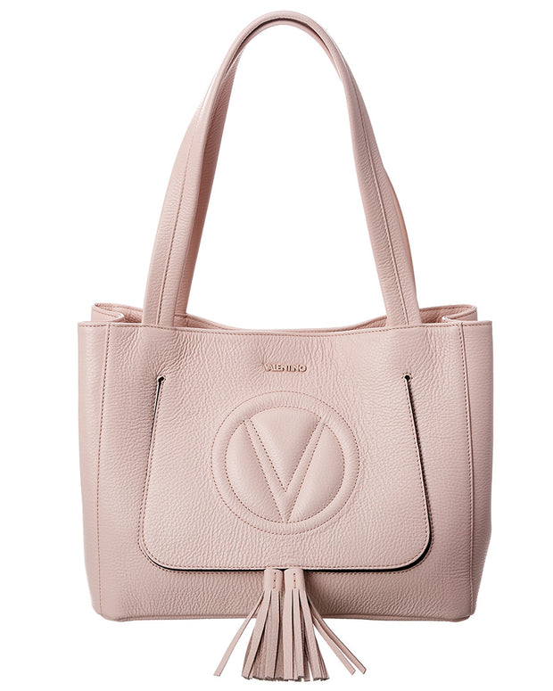 Valentino By Mario Valentino Estelle Leather Shoulder Tote
