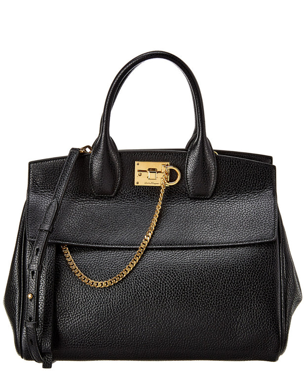 Salvatore Ferragamo Studio Leather Satchel