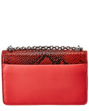 3.1 Phillip Lim Alix Snake-Embossed Leather Chain Clutch