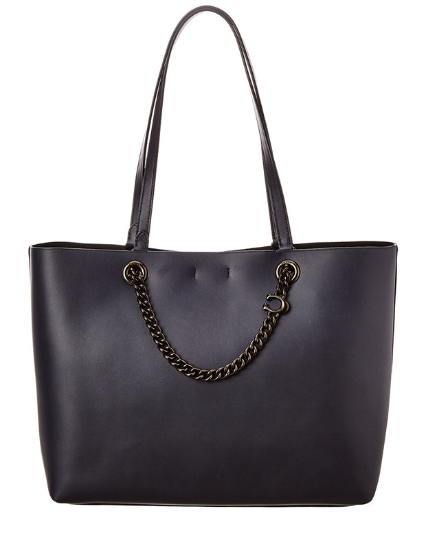 Coach Chain Convertible Leather Tote
