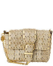 Red Valentino Flower Puzzle Leather Shoulder Bag