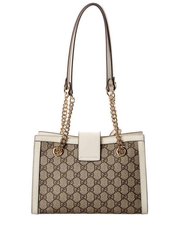 Gucci Padlock Small Gg Supreme Canvas & Leather Shoulder Bag