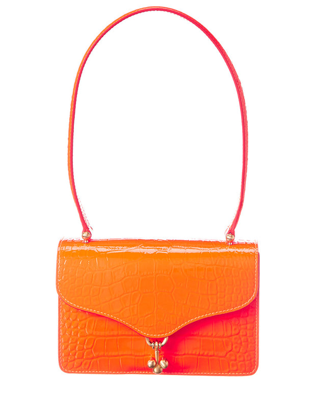 Edie Parker Ballbuster Croc-Embossed Leather Shoulder Bag