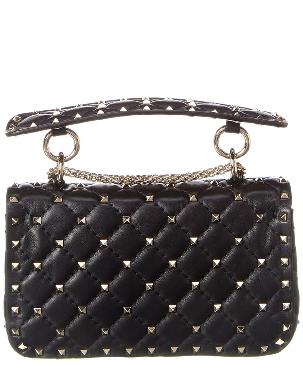 Valentino Rockstud Spike Medium Leather Shoulder Bag