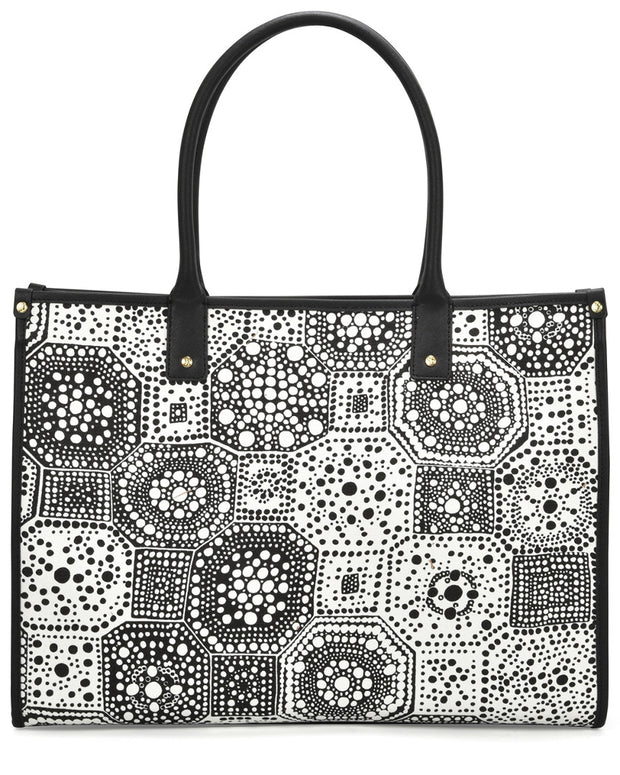 Trina Turk Large Canvas Tote With Coated Lining