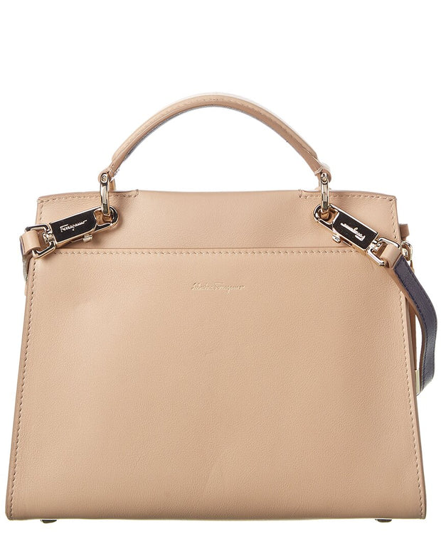 Salvatore Ferragamo Jet Set Medium Leather Satchel