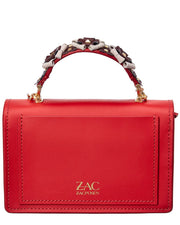 Zac Zac Posen Earthette Accordion Top Handle Leather Tote