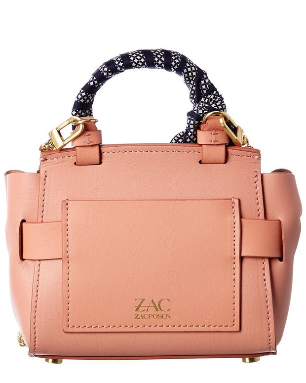 Zac Zac Posen Brigette Belted Mini Leather Crossbody