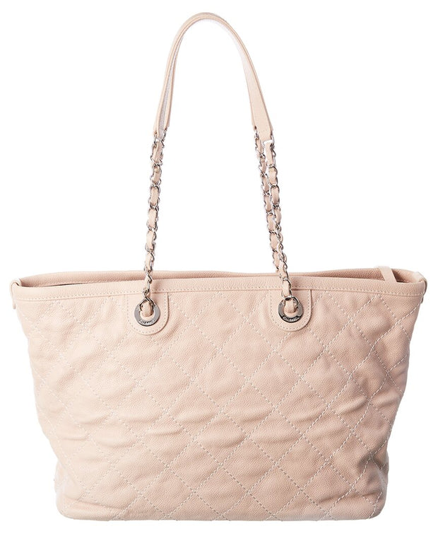 Pre-Owned Chanel Pink Caviar Leather Tote