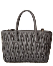 Miu Miu Matelasse Leather Top Handle Tote