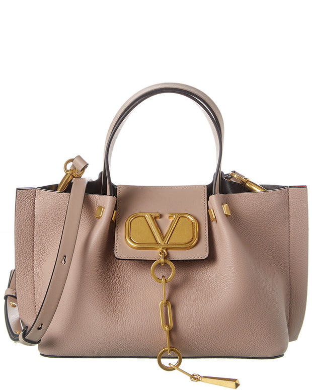 Valentino Vlogo Escape Small Leather Tote