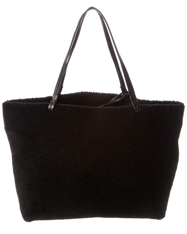 The Row Park Shearling & Leather Tote