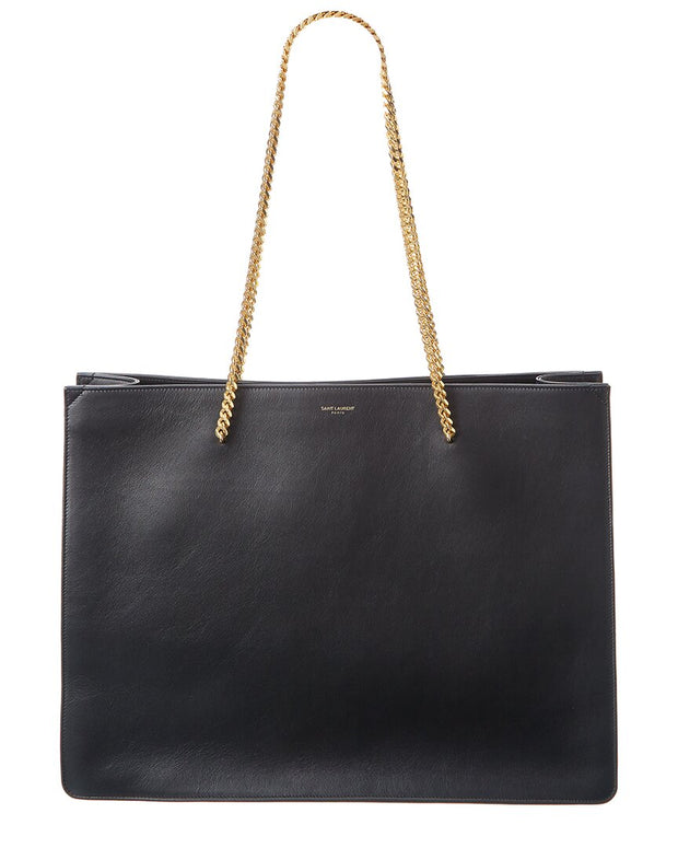 Saint Laurent Medium Shopping Chain Leather Tote