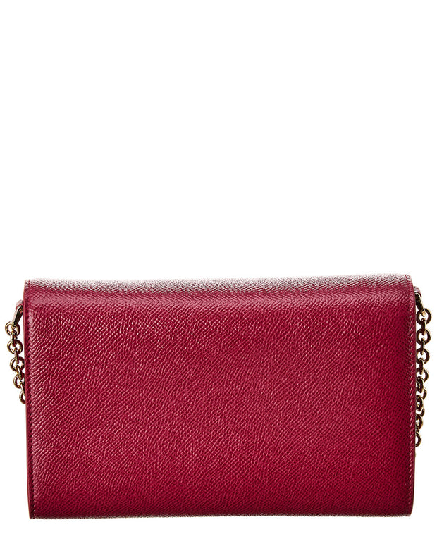 Dolce & Gabbana Dauphine Leather Wallet On Chain