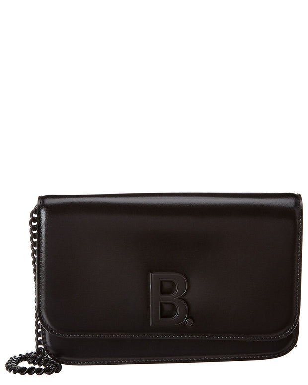 Balenciaga B Leather Wallet On Chain