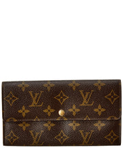 Pre-Owned Louis Vuitton Monogram Canvas Sarah Wallet