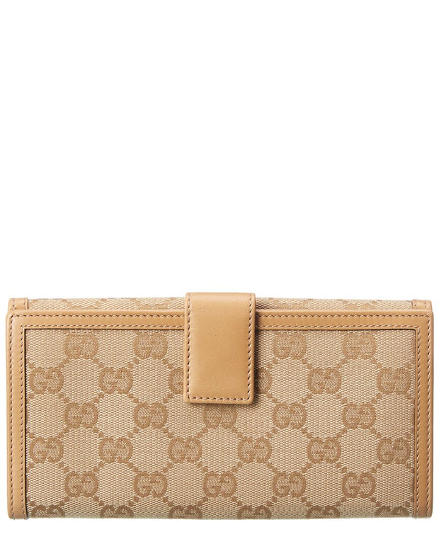 Pre-Owned Gucci Beige Gg Canvas Continental Wallet