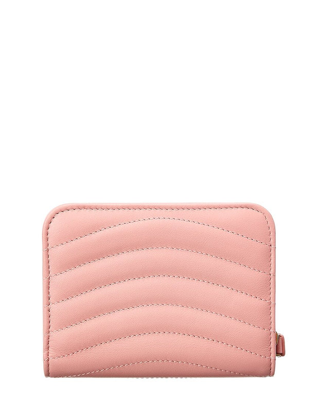 Pre-Owned Louis Vuitton Pink Leather New Wave Wallet