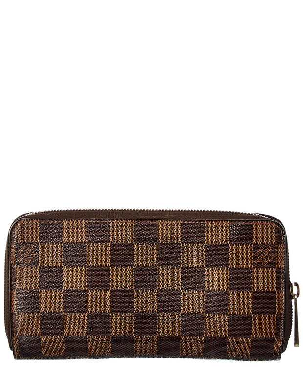 Pre-Owned Louis Vuitton Damier Ebene Canvas Zippy Wallet
