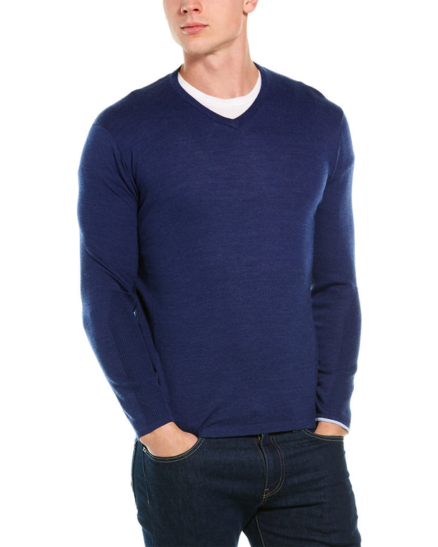 Greyson Guide Wool-Blend V-Neck Sweater