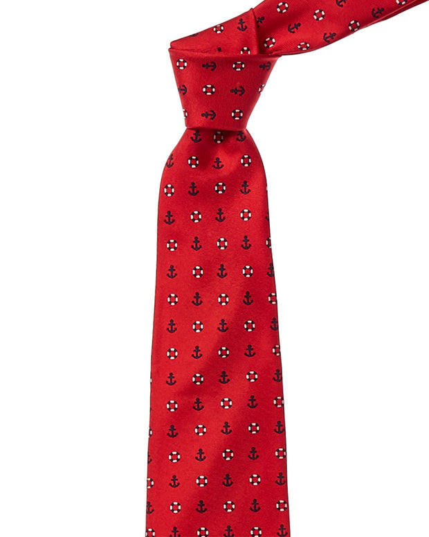 Brooks Brothers Red Anchor & Lifesavers Silk Tie