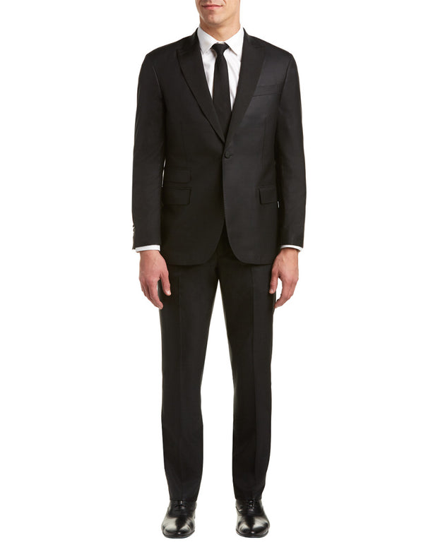 Michael Bastian Wool Suit With Flat Front Pant
