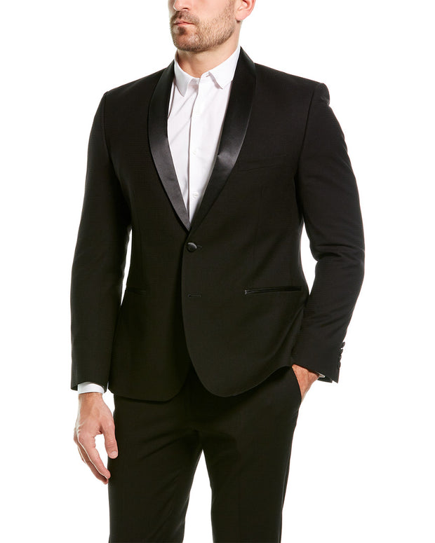Nick Graham 2Pc The New York Cut Modern Fit Tuxedo Suit With Flat Pant