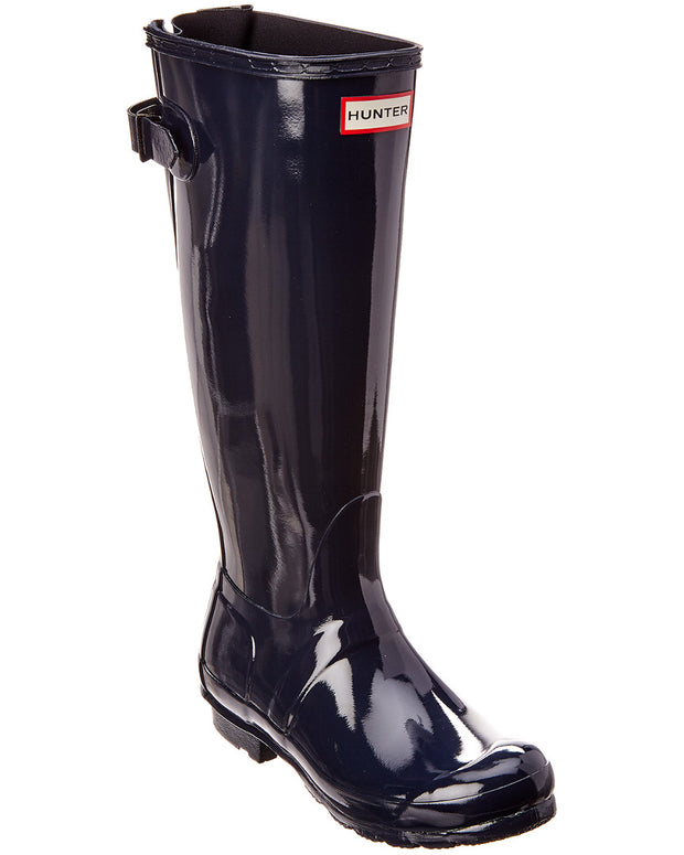 Hunter Women's Original Back Adjustable Gloss Rain Boot
