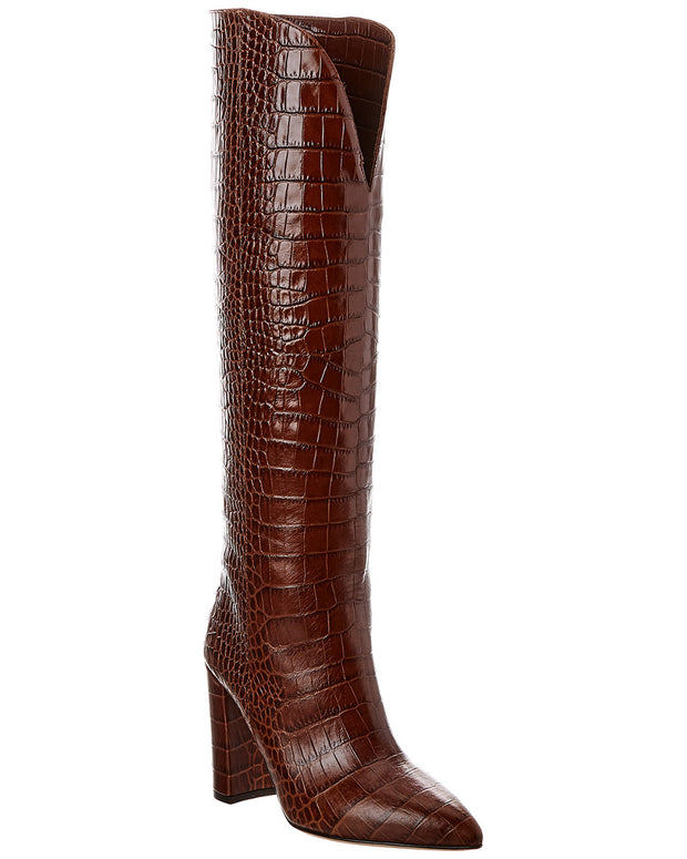 Paris Texas Croc-Embossed Leather Boot