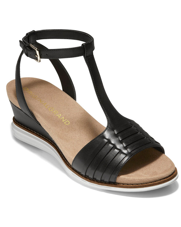 Cole Haan Original Grand Leather Wedge Sandal