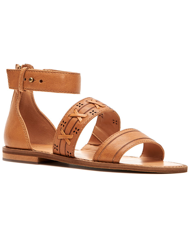 Frye Evie Whipstitch 2 Band Leather Sandal