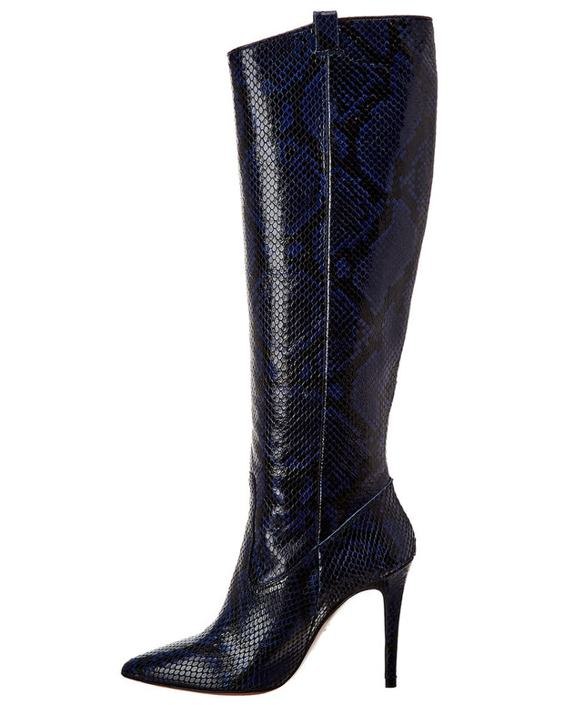 Veronica Beard Wyn Snake-Embossed Leather Boot