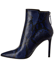 Veronica Beard Jovanna Snake-Embossed Leather Bootie