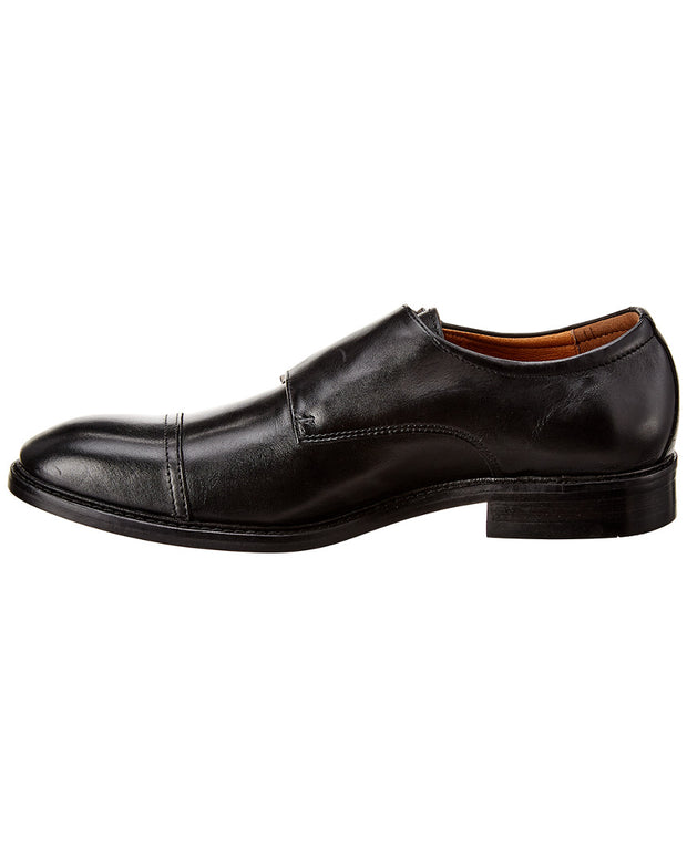 Winthrop Shoes Cap Toe Double Monk Strap Leather Oxford