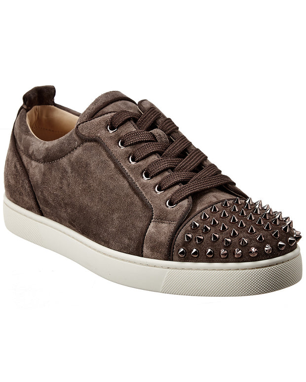 Christian Louboutin Louis Junior Spikes Suede Sneaker