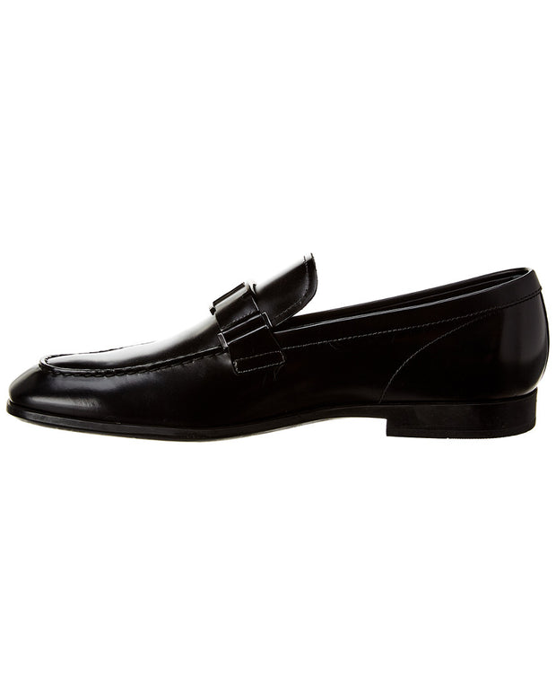 Tod's T Buckle Leather Loafer
