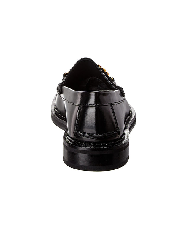 Versace Medusa Chain Leather Loafer