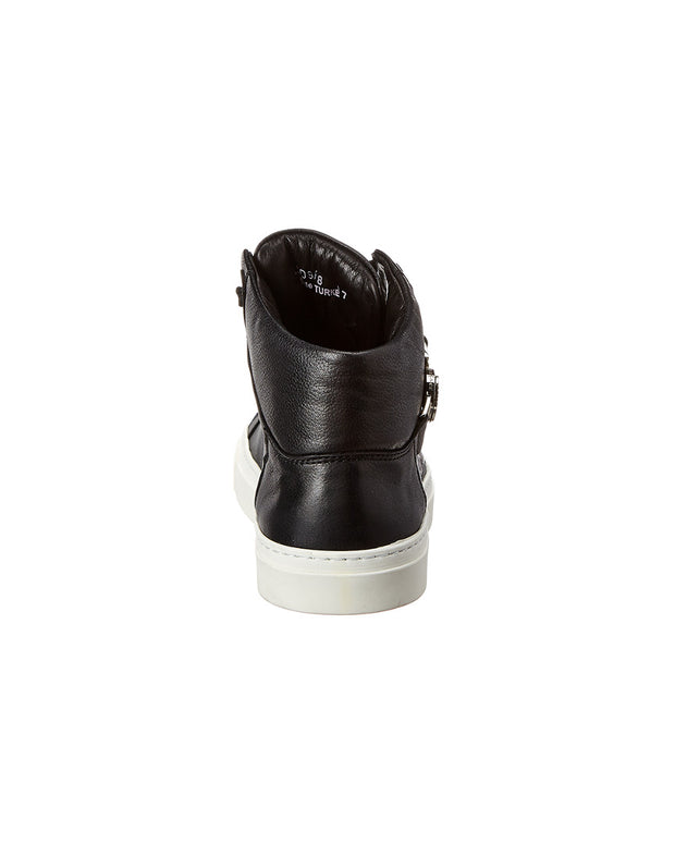 Versace Collection Leather High-Top Sneaker