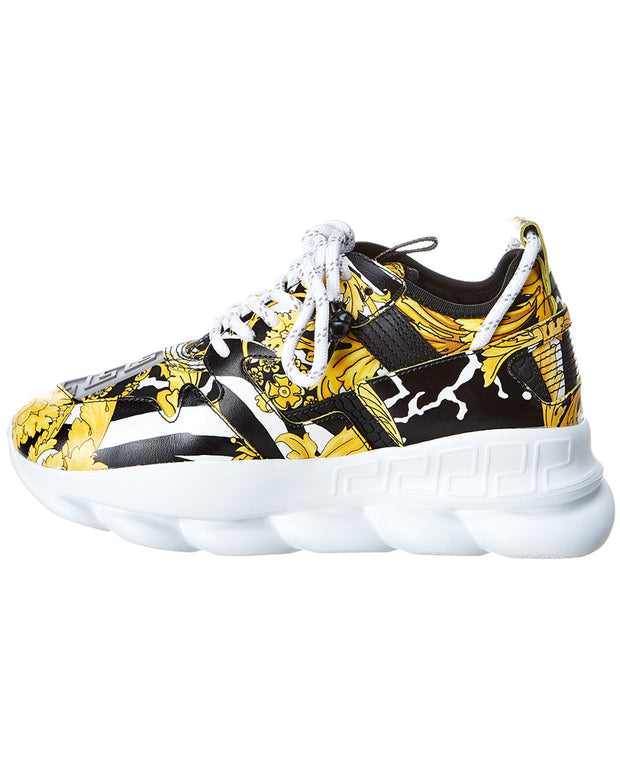 Versace Chain Reaction 2 Leather Sneaker