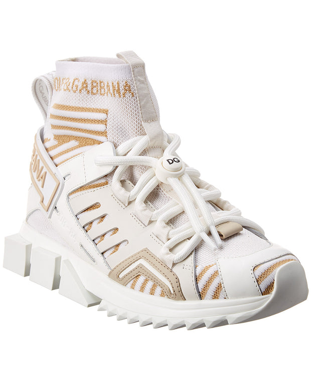 Dolce & Gabbana Sorrento Trekking Leather-Trim Sneaker