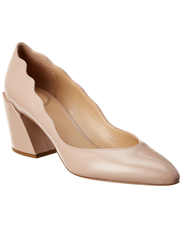 Chloe Laurena Scalloped Leather Pump
