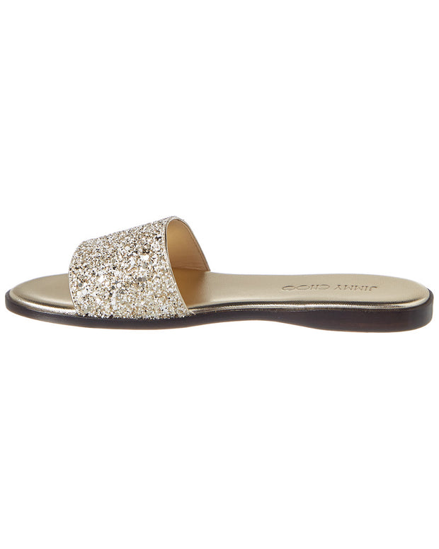 Jimmy Choo Erin Minea Glitter Leather Sandal