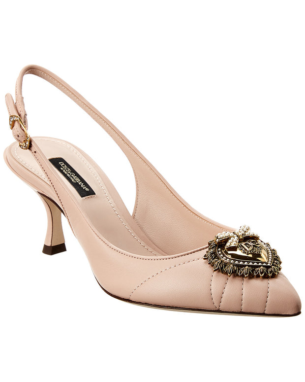 Dolce & Gabbana Lori Leather Slingback Pump