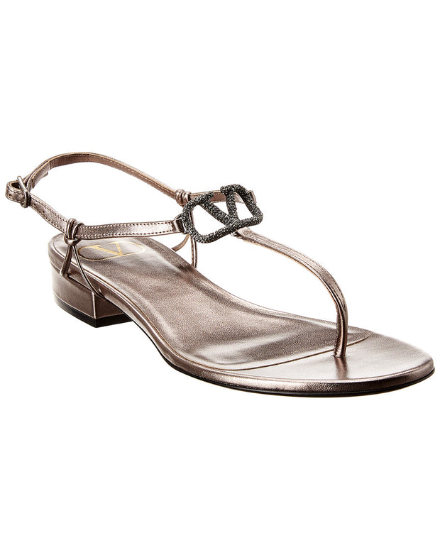Valentino Vlogo 20 Laminated Leather Sandal