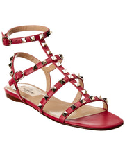 Valentino Rockstud Caged Leather Sandal