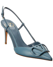 Valentino Vlogo 80 Leather Slingback Pump