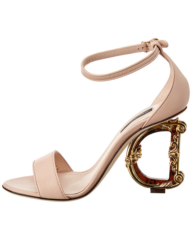 Dolce & Gabbana Baroque Leather Sandal